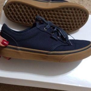 Navy Blue boy vans size 5